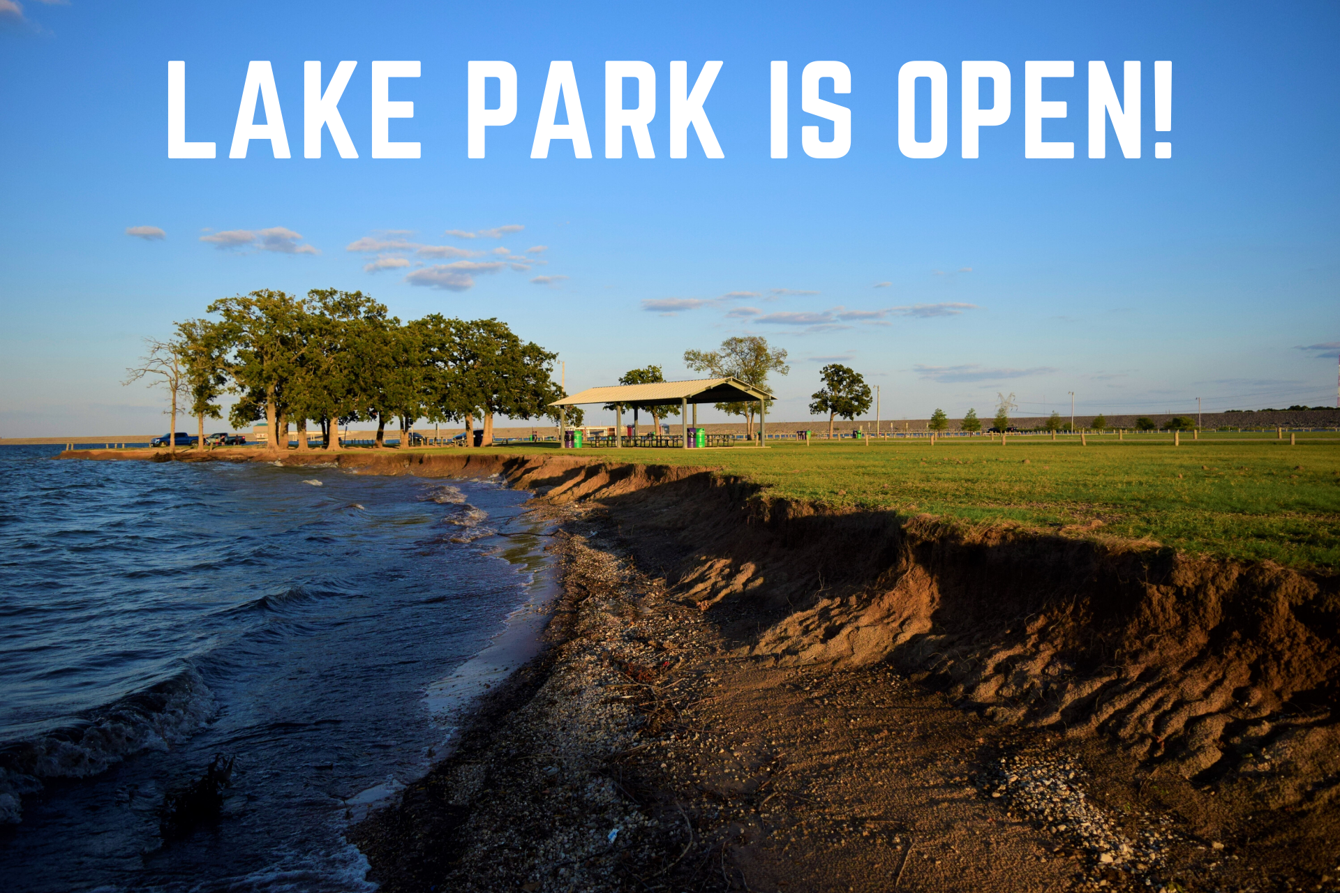 LAKE PARK IS OPEN!